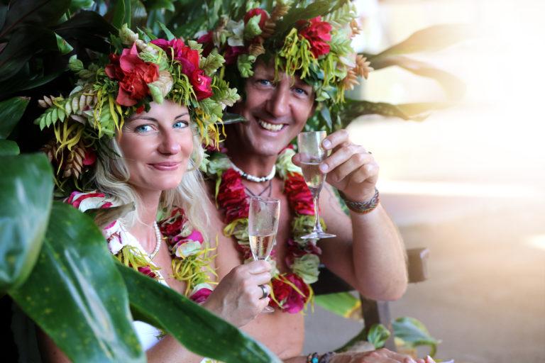 Romantischer Honeymoon in Polynesien